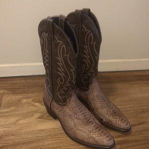 Laredo snakeskin cowboy boots